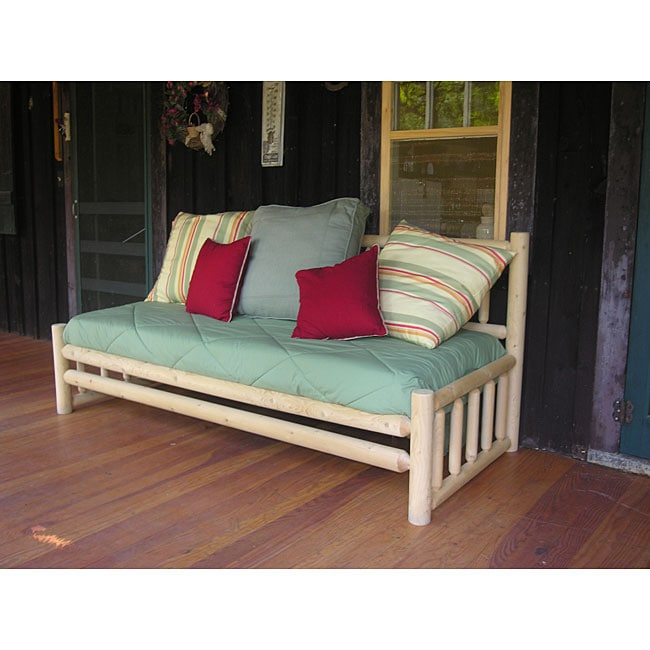 Rustic Log Pole Cedar Adirondack Day Bed Free Shipping