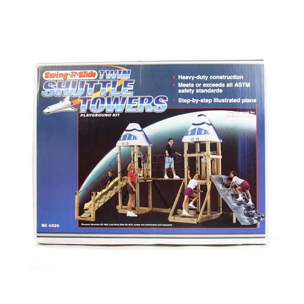Shop Swing N Slide Twin Shuttle Towers Playground Kit
