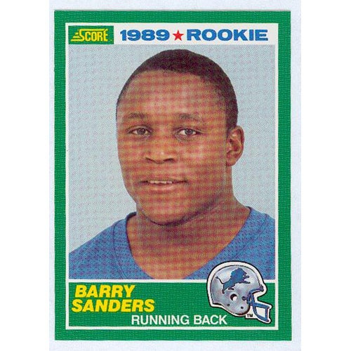 Barry Sanders 1989 Score Rookie Card: Barry Sanders 1989 Score Rookie Card
