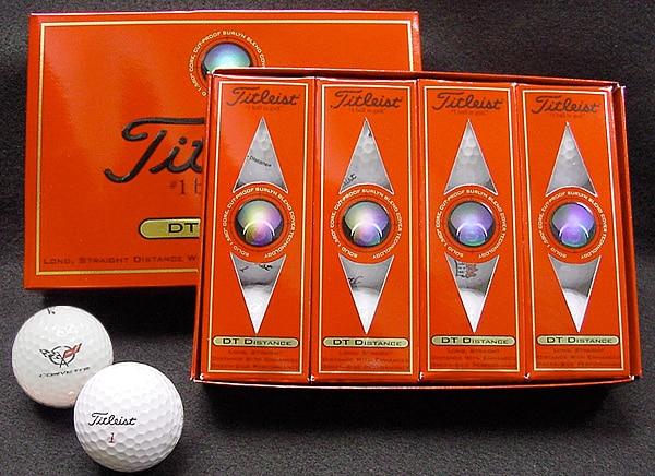 Titleist DT Distance Golf Balls-(2 dozen)