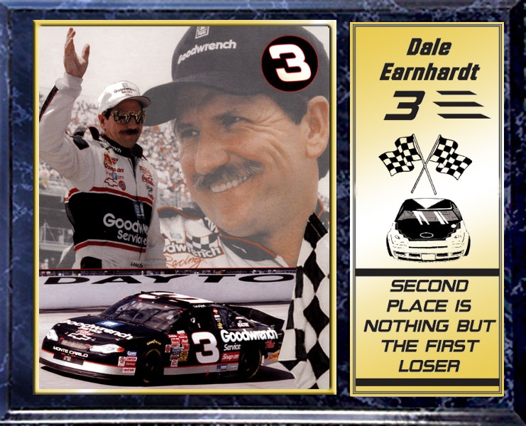 Dale Earnhardt Sr Plaque With 8 X 10 Photo Free