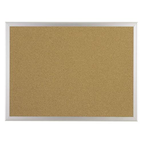 Bulletin Board, W/Aluminum Frame, 36x60, Natural Cork