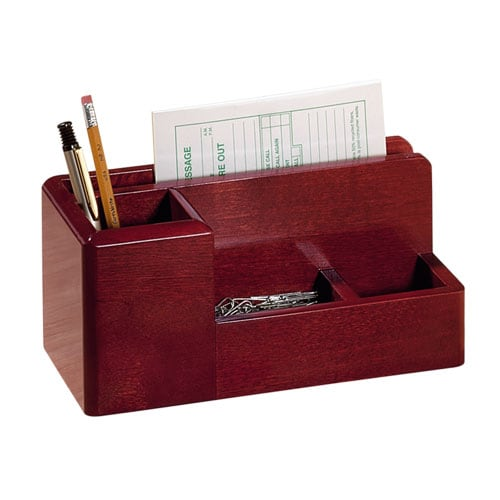Desk Organizer Mahogany Free Shipping On Orders Over