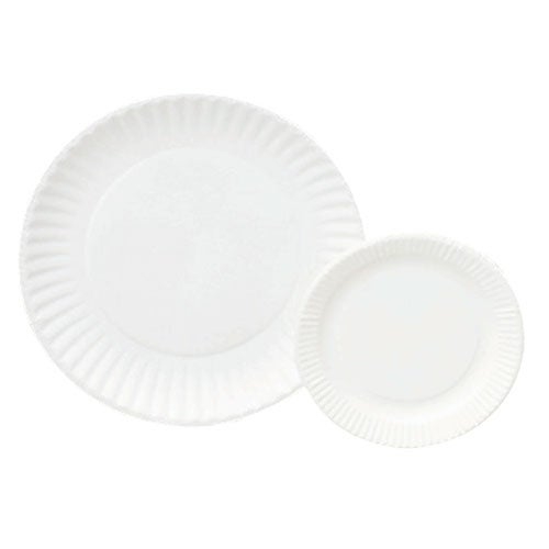 6'' Paper Plates,  White (bulk pack of 1000)