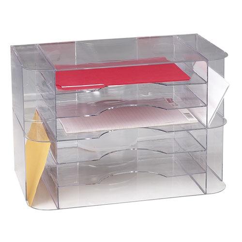 Jumbo desk wall sorter organizer 6 letter size trays - Desk organizer sorter ...