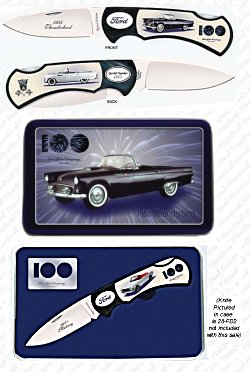 Limited Edition 1955 Ford Thunderbird Knife in Tin - Thumbnail 1
