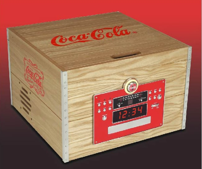 Coca Cola Crate Turntable/CD Player