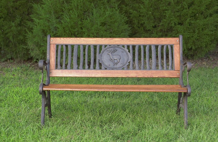 Shop Rustic Deer Inlay Bench Free Shipping Today