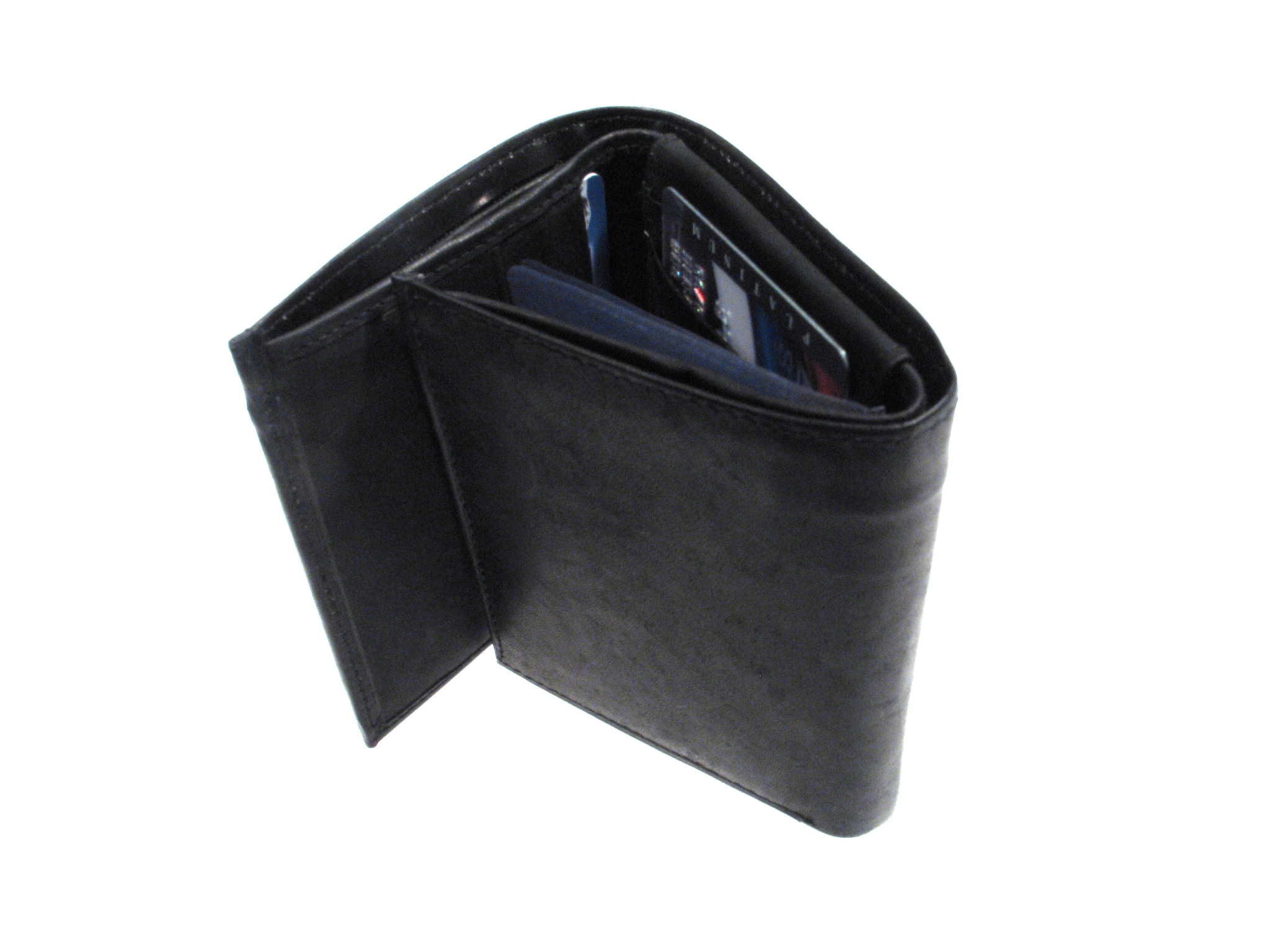Signature Genuine Leather Tri-fold Wallet - Thumbnail 1