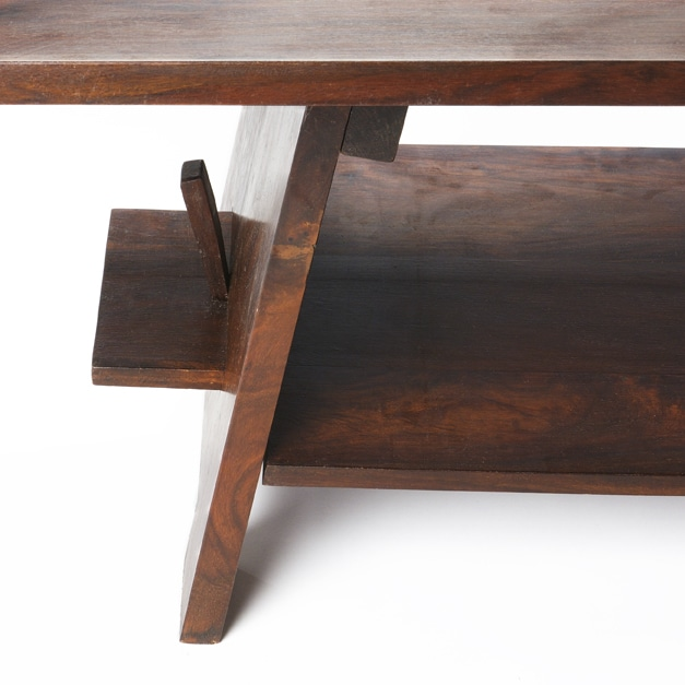 French Stamped Mango Coffee Table: [Handmade] Asian Style Coffee Table/ Bench (India)