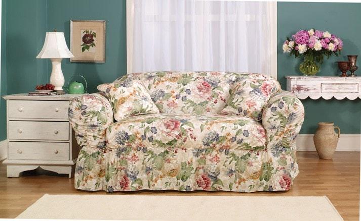 Hartsdale Multi Colored Sofa Slipcover - Thumbnail 1