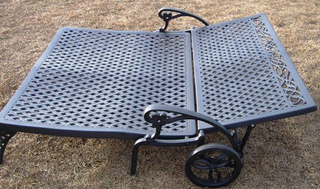 Cast Aluminum Double Chaise Lounge