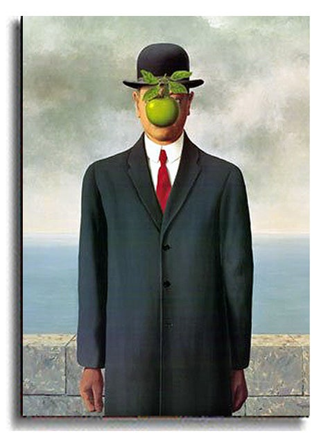 The Son of Man by Magritte Stretched Canvas Art - Thumbnail 1