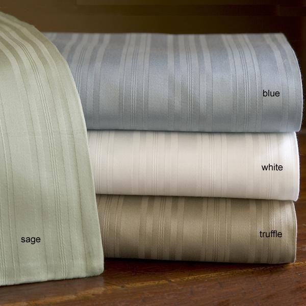 Metropolitan Stripe 600 tc Cotton Sheet Set - Thumbnail 1