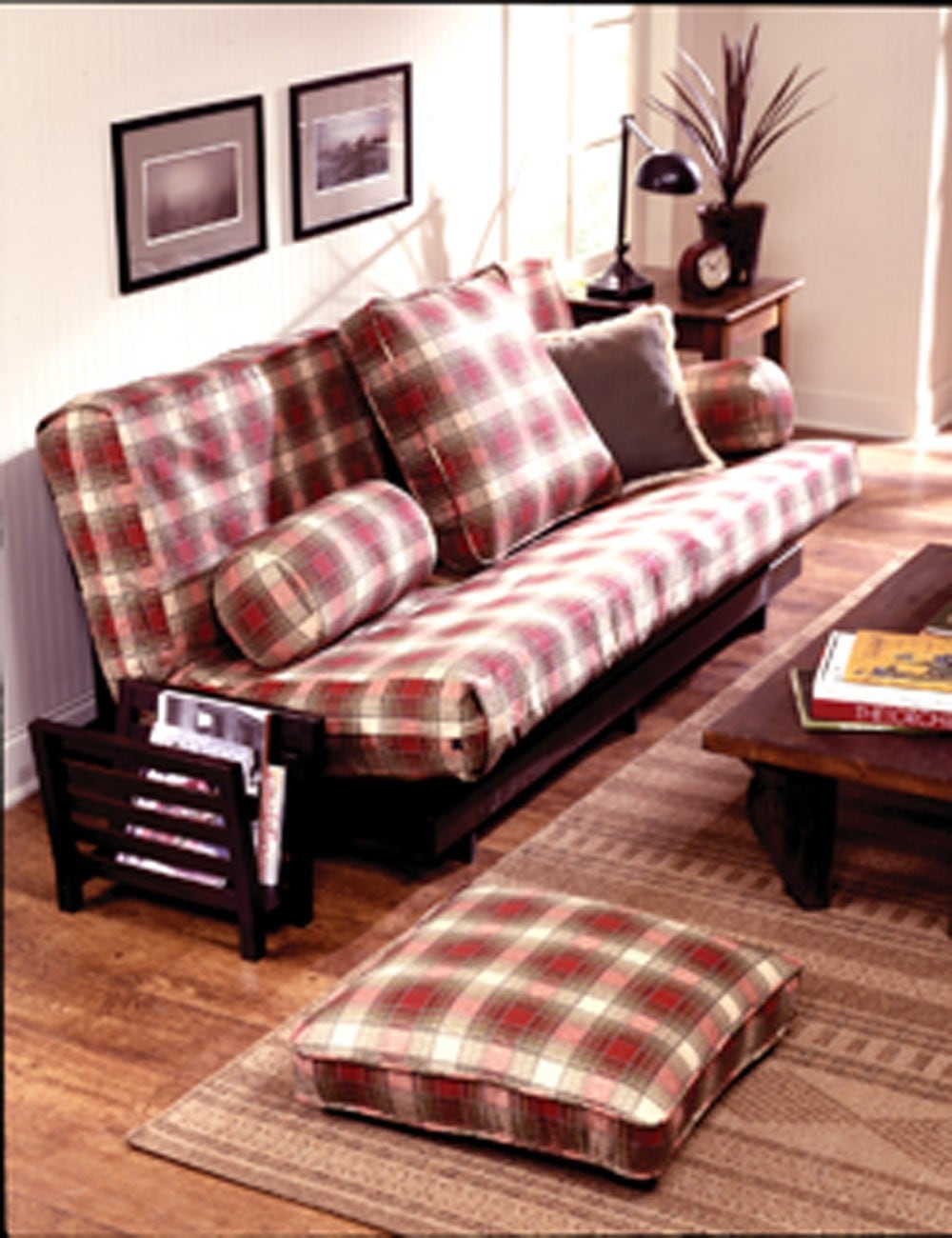 Plaid Futon Cover Home Decor