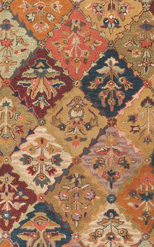 Hand-tufted Baktarri Red/ Multi-Color Wool Rug (4' x 6') - Thumbnail 1