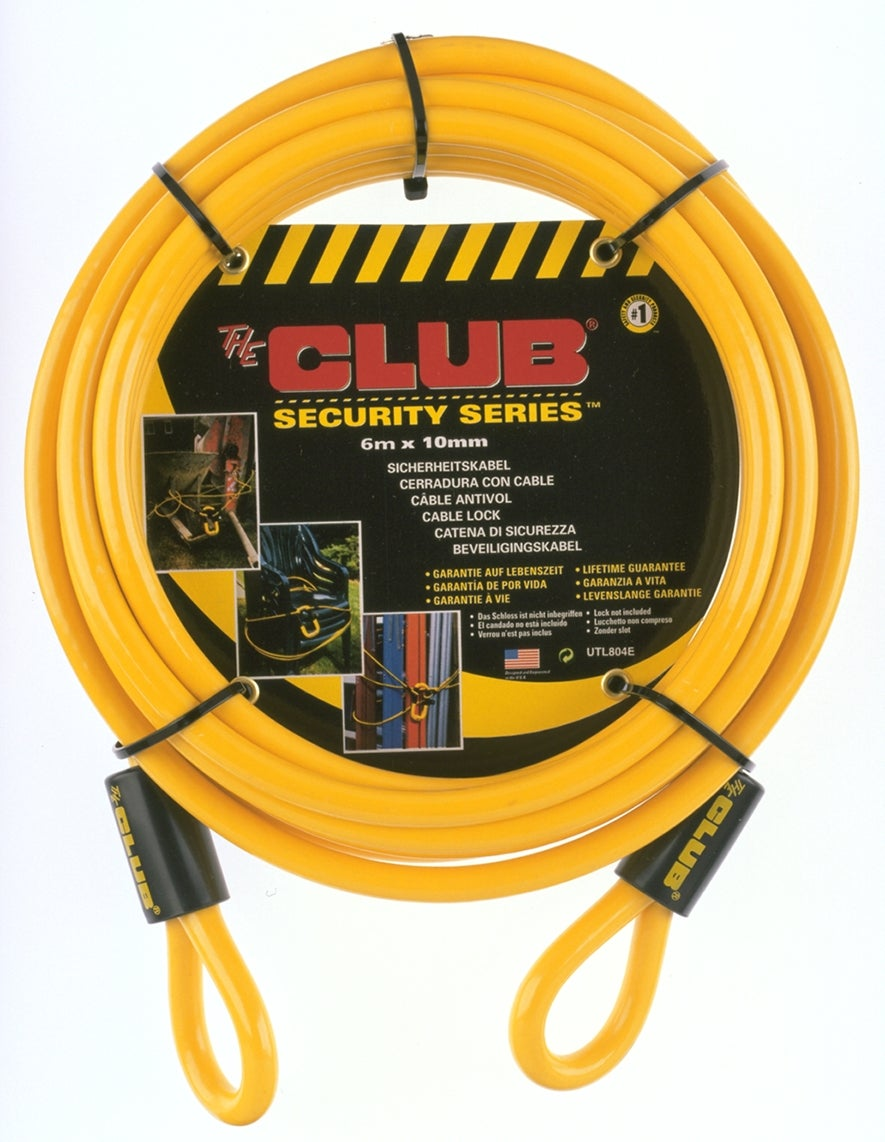The Club 20-foot Yellow Security Cable - Thumbnail 1