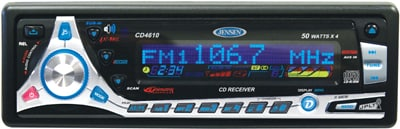 Jensen CD4610 In-dash CD Player with Motorized Detachable Face - Thumbnail 1