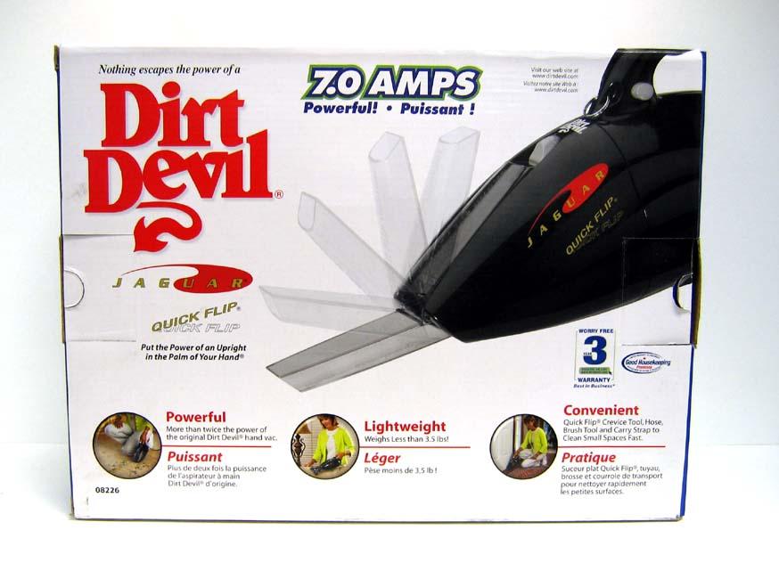 Dirt Devil Jaguar Quick Flip Hand Vacuum - Thumbnail 1