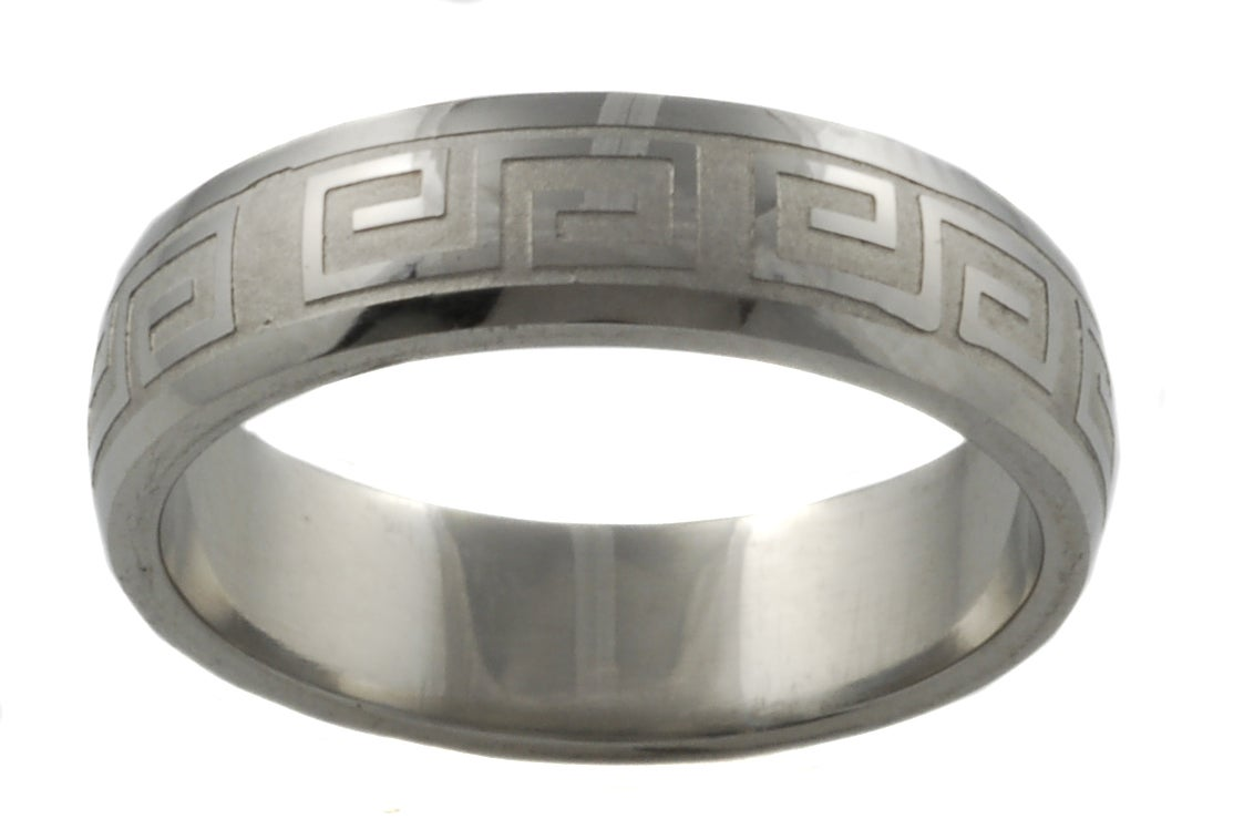 Stainless Steel Greek Style Band - Thumbnail 1