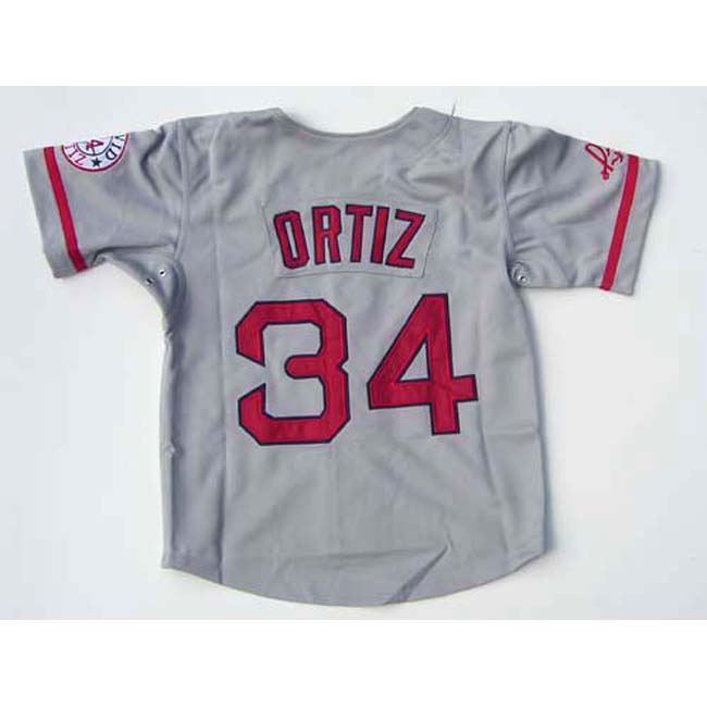 David Ortiz Grey 'Papi' Jersey - Thumbnail 1