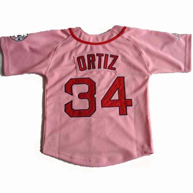 David Ortiz Pink 'Papi' Jersey - Thumbnail 1