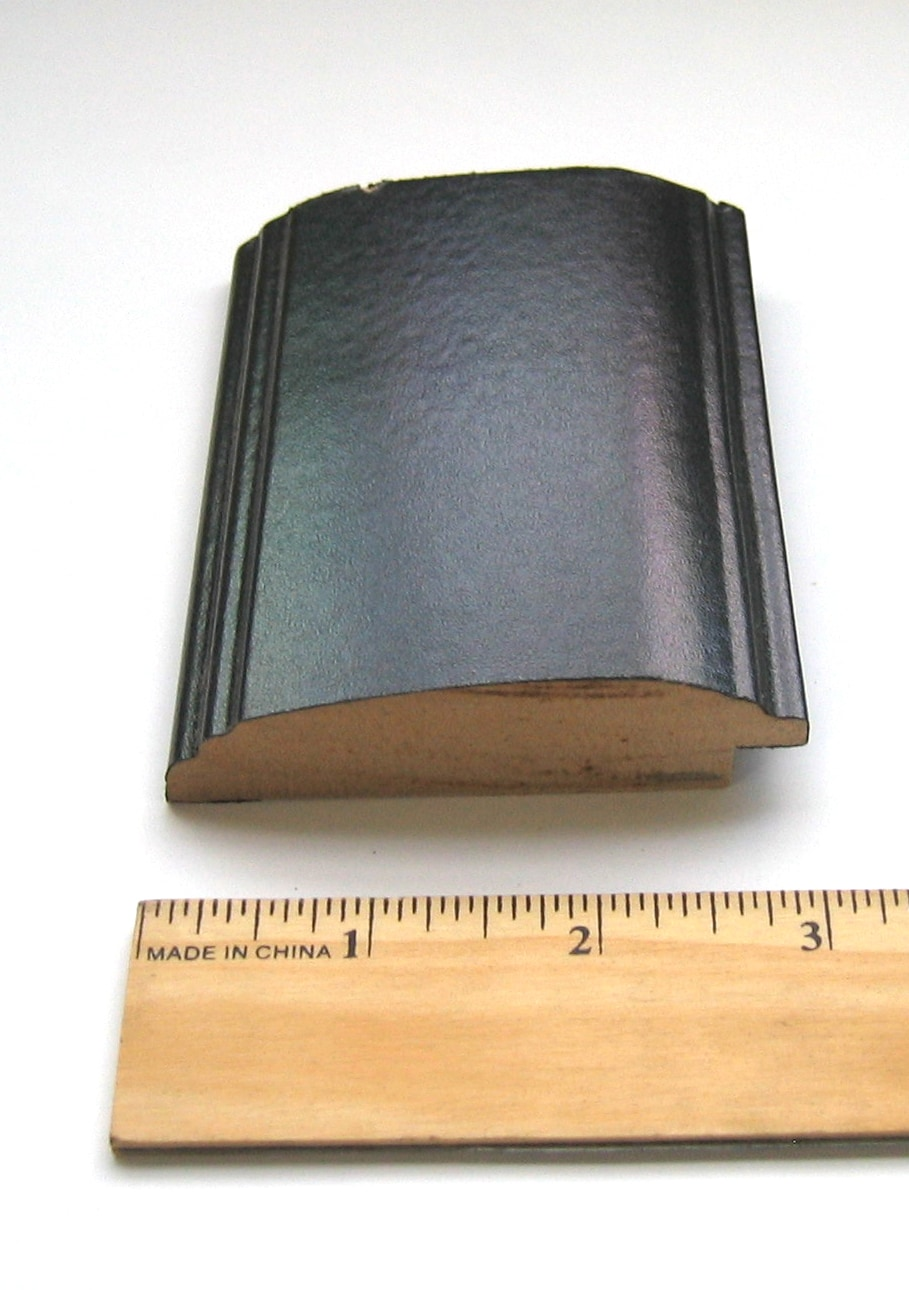Black Grooved Frame Long Wall Mirror