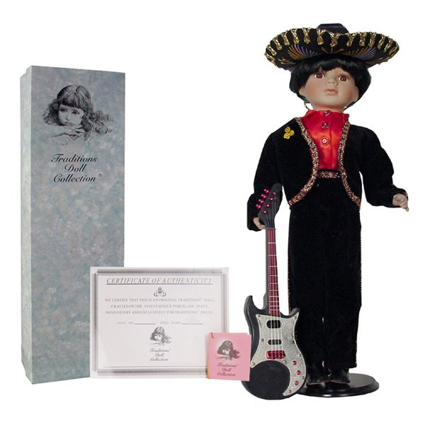 Collectible 22-inch Mariachi Porcelain Doll