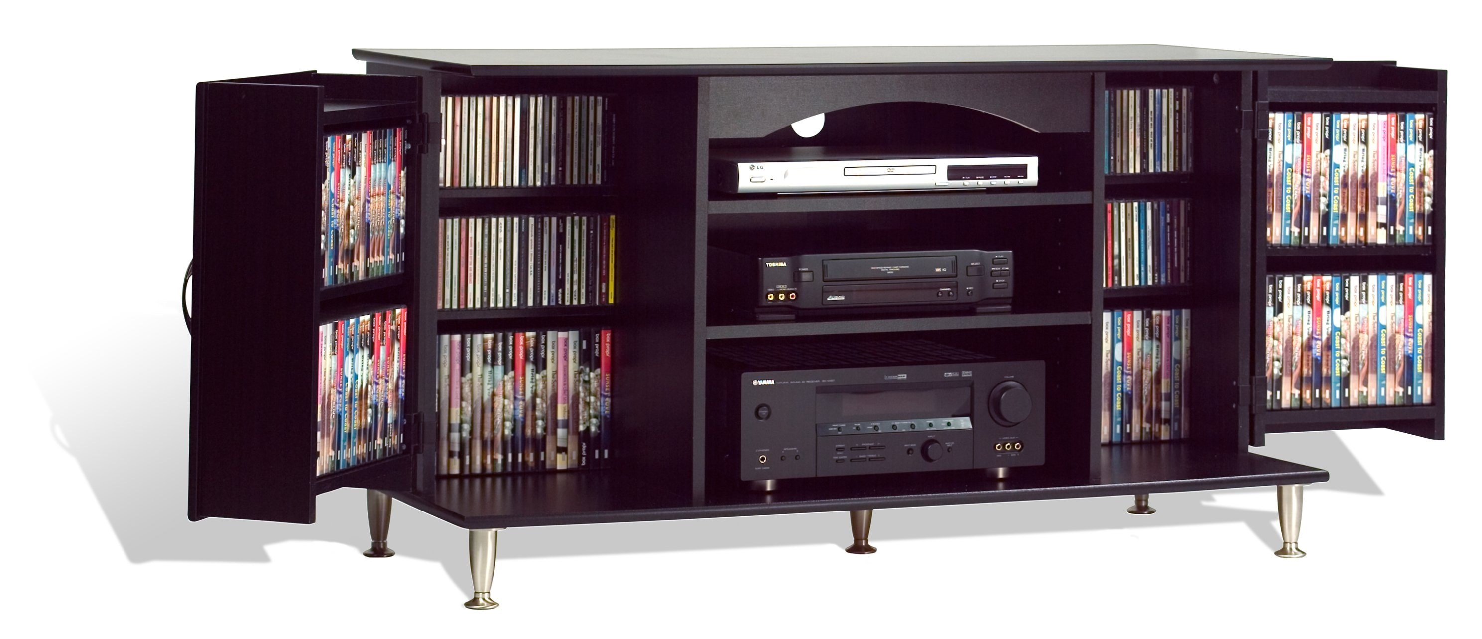 Thumbnail 2, Broadway Black 42-inch TV Storage Console. Changes active main hero.