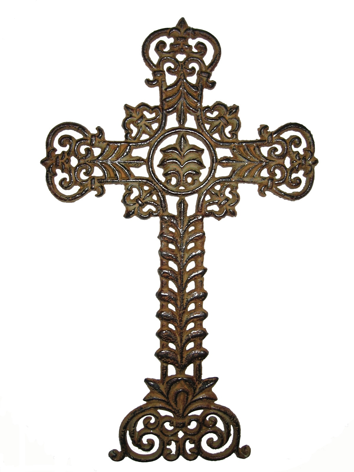 Cross Wall Hanging large iron cross wall hanging - free shipping today - overstock