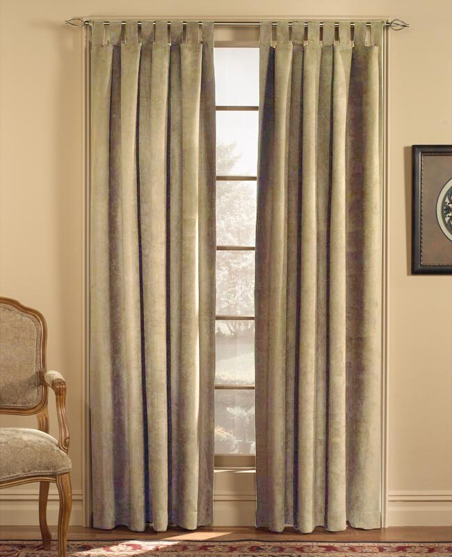 Microsuede 84-inch Tab Top Curtain Panel