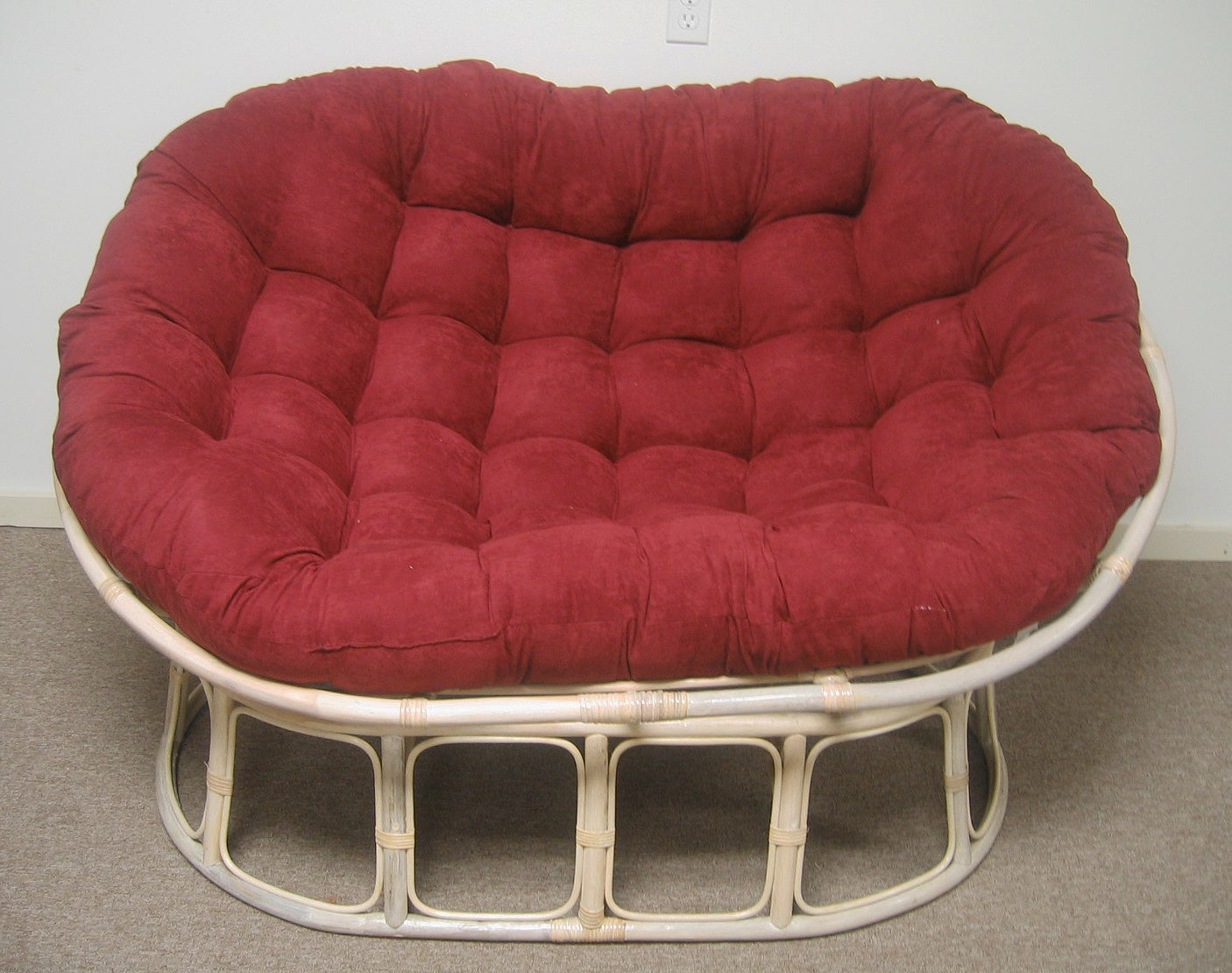 Double Papasan Chair With Microsuede Cushion Free