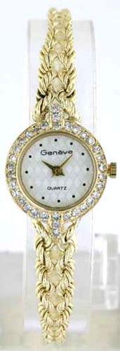 Geneve Women's Solid 14k Gold Diamond Watch - Thumbnail 1