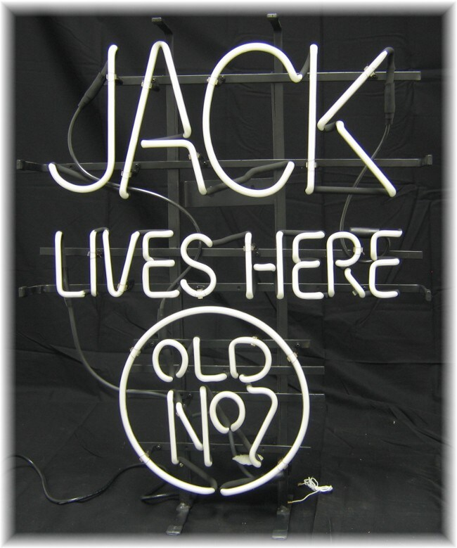 Jack Daniels 'Jack Lives Here' Neon Bar Sign
