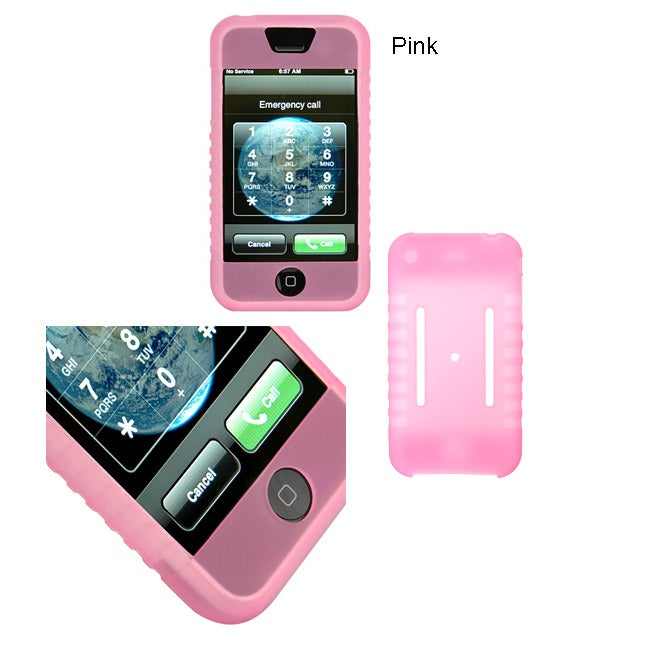 iPhone 3G Compatible Soft Skin Silicone Case - Thumbnail 1