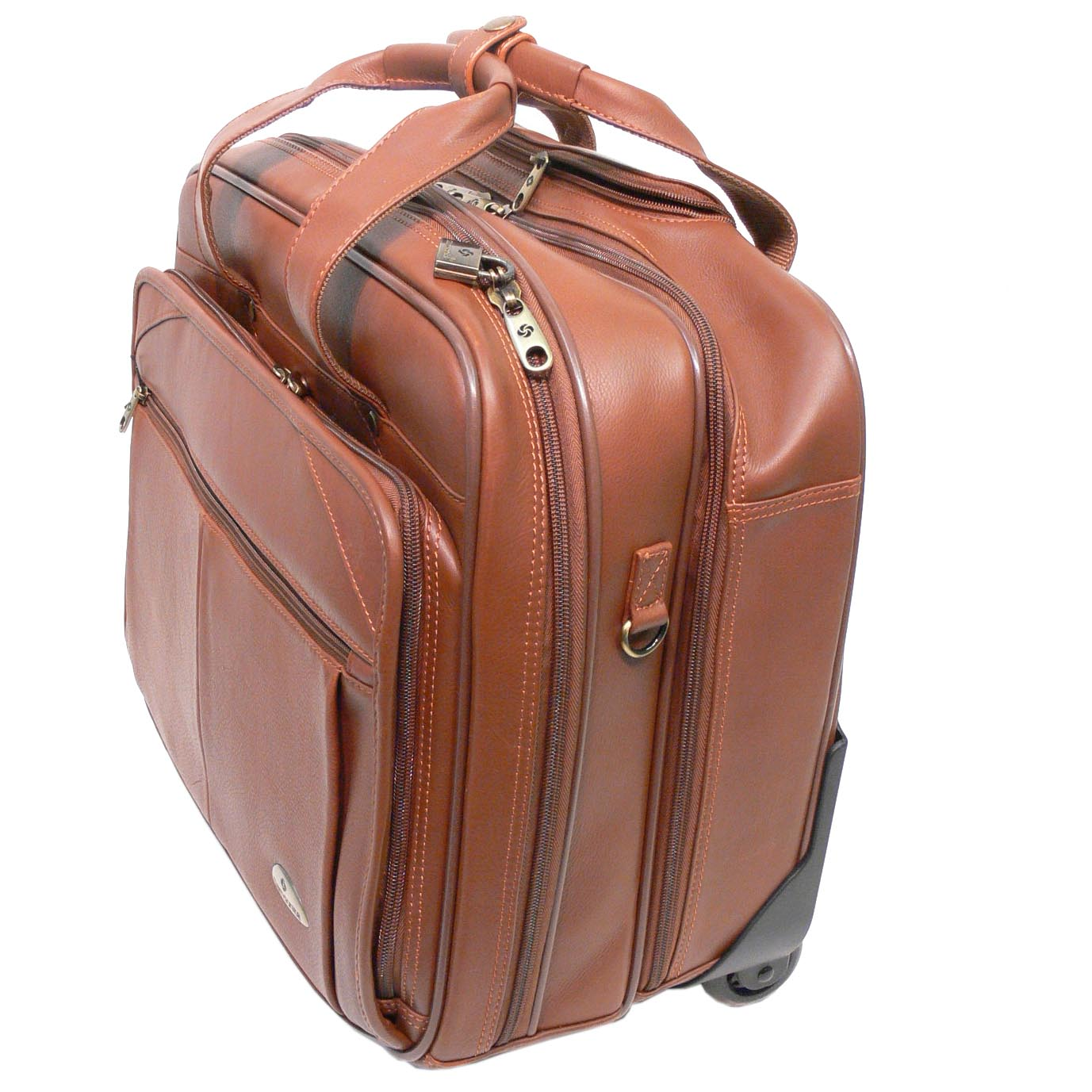 Samsonite Wheeled Leather Briefcase Free Shipping Today