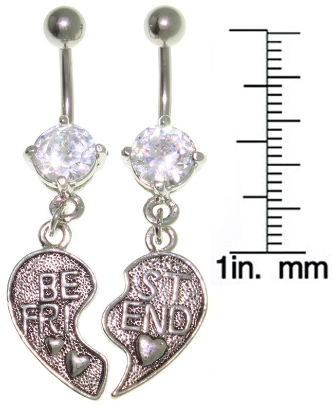 Carolina Glamour Collection Pair of Best Friend Belly Rings - Thumbnail 1