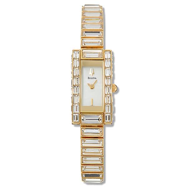 Bulova Women's Crystal Goldtone Watch