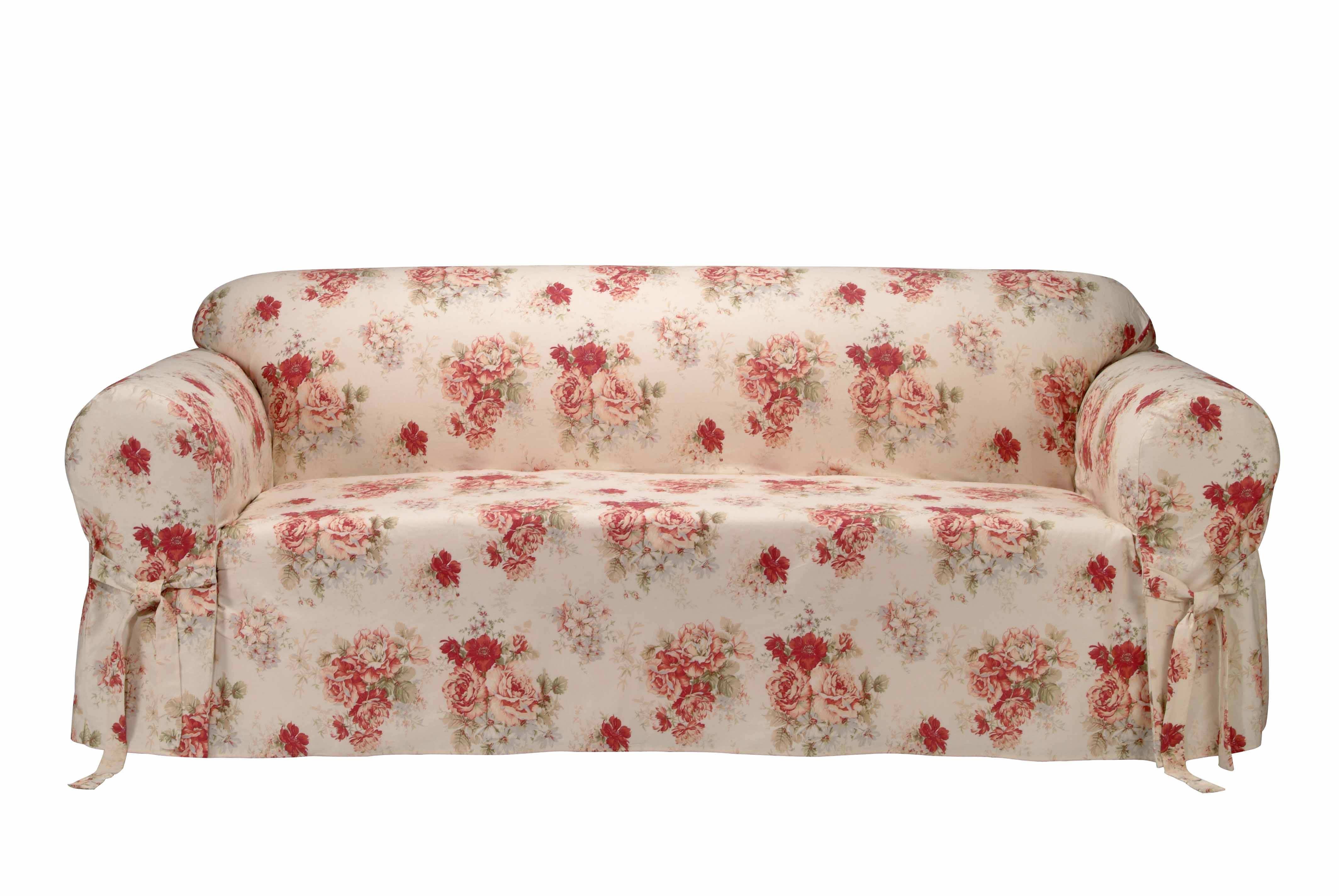 Saras Rose Printed Sofa Slipcover Free Shipping Today