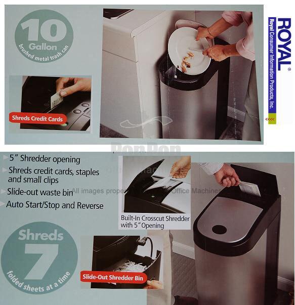 Royal KS7 Stainless Steel Trash Can & Paper Shredder