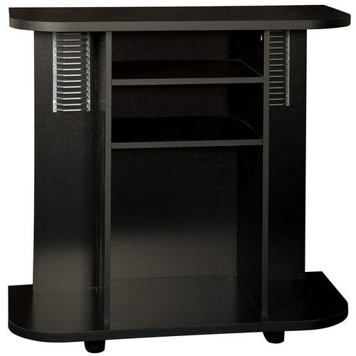Tiffany Deluxe Black Finish TV Stand
