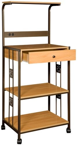 Coffee Bean Kitchen Shelf with Beech Finish