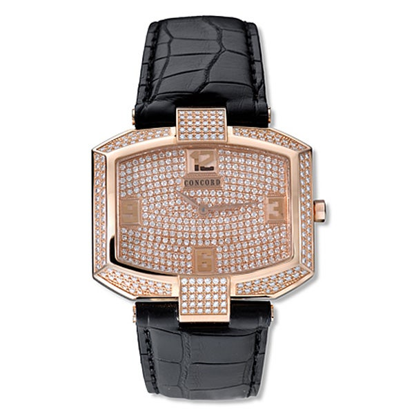 Concord La Scala Men's 18k Rose Gold Diamond Watch