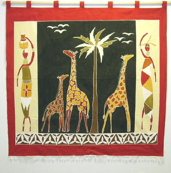 Handmade Traditional Giraffe Wall Hangings Zambia