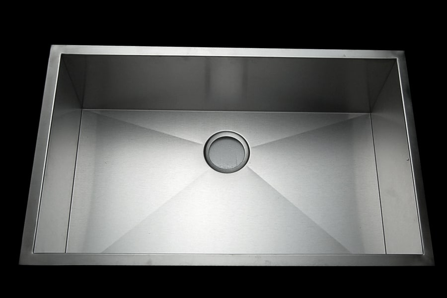 Stainless Steel 32-inch Single Bowl Kitchen Sink