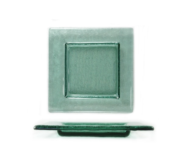 Fusion Transparent Green Bread and Butter Plate (Case of 12)