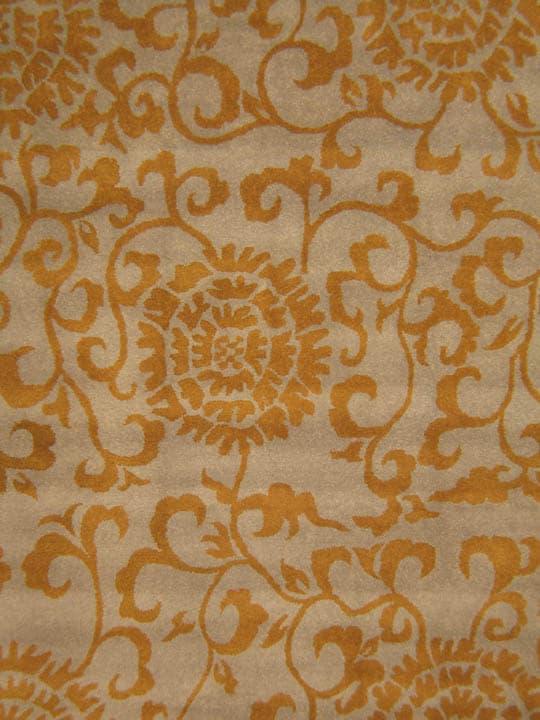 Thumbnail 2, Hand-tufted Casablanca Gold Wool Rug (7'9 x 9'9). Changes active main hero.