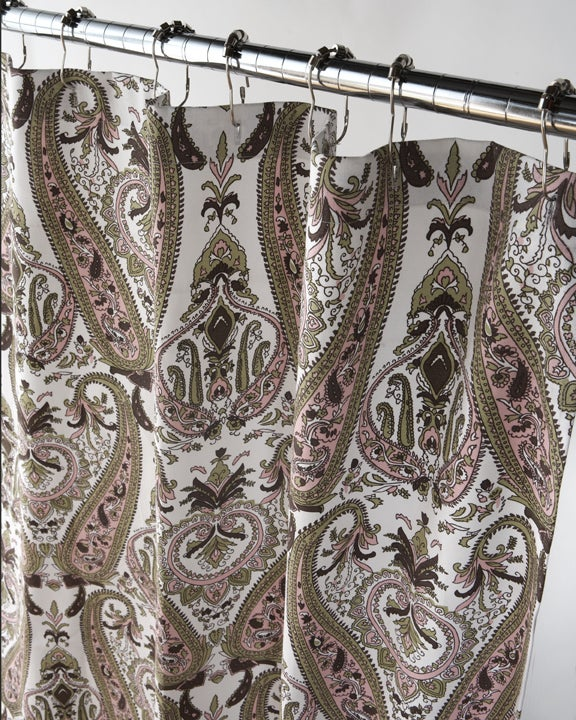 Thumbnail Moroccan Diva Paisley Canvas Shower Curtain