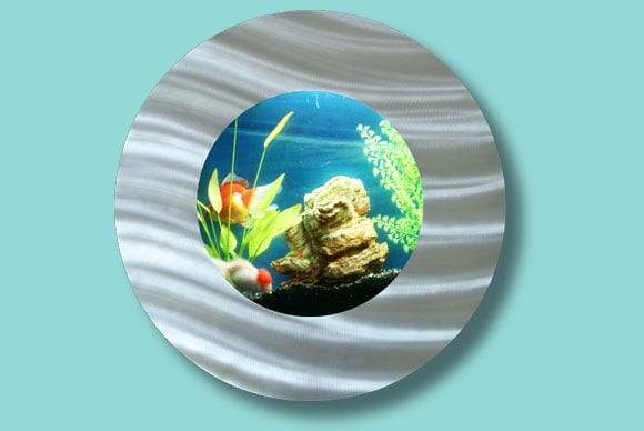 Artquarium Bubble Porthole Wall-mounted Aquarium