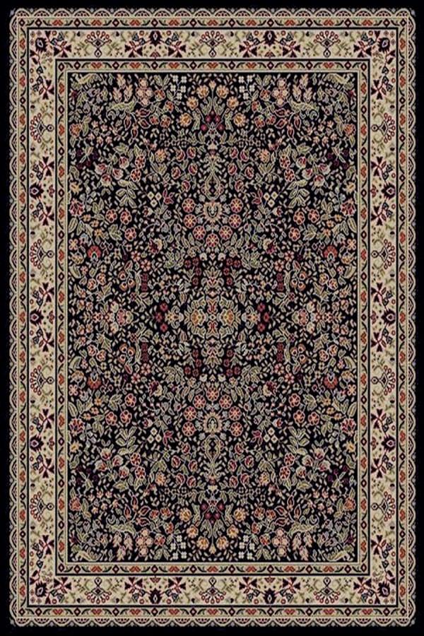 Sarouk Black Rug (5'3 x 7'3) - Thumbnail 1